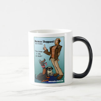 Herman Sheppard- myFarcebook.com Dog Trainer 11 Oz Magic Heat Color-Changing Coffee Mug