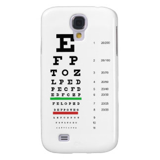 Herman Snellen Eye Chart to Estimate Visual Acuity Samsung Galaxy S4 Covers