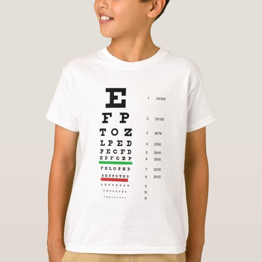 Herman Snellen Eye Chart to Estimate Visual Acuity T-Shirt