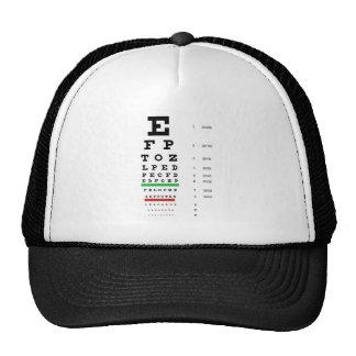 Herman Snellen Eye Chart to Estimate Visual Acuity Trucker Hat