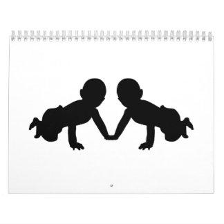 Hermana a bebés calendarios