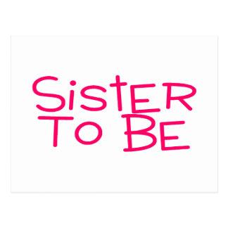 Hermana a ser rosada postales