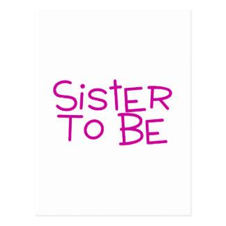 Hermana a ser tarjeta postal