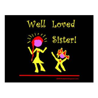 ¡Hermana amada pozo! Tarjeta Postal