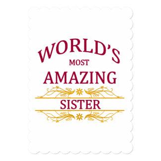 """Hermana asombrosa invitación 5"""" x 7"""""""