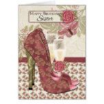 Hermana Champán y mariposa de los zapatos y Felicitacion