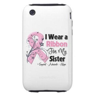 Hermana - cinta del rosa del cáncer de pecho iPhone 3 tough protectores