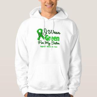 Hermana - cinta verde de la conciencia sudadera