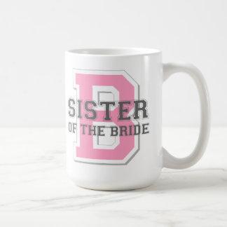 Hermana de la alegría de la novia taza clásica