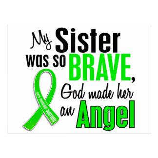 Hermana de la distrofia muscular del ángel 1 postal