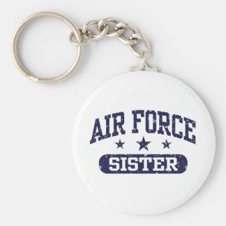 Hermana de la fuerza aérea llavero redondo tipo pin