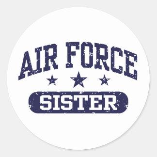 Hermana de la fuerza aérea pegatina redonda