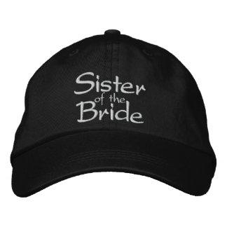 Hermana de la novia bordada casando el casquillo gorra de béisbol