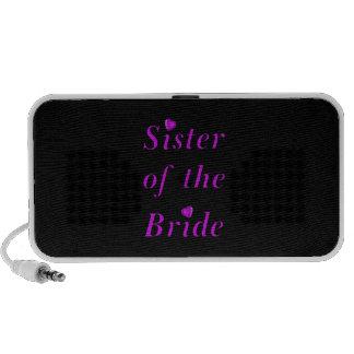 Hermana de la novia del amor simplemente portátil altavoces
