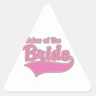 Hermana de la novia pegatina triangular
