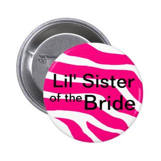 Hermana de la novia pin redondo de 2 pulgadas