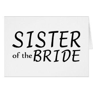 Hermana de la novia tarjetón