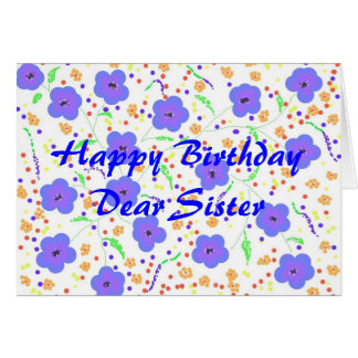 Hermana de la tarjeta del feliz cumpleaños, person
