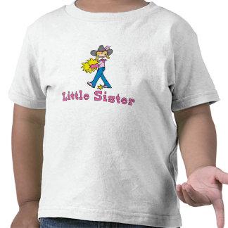 Hermana de la vaquera del palillo pequeña camisetas