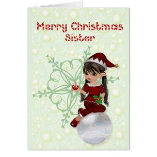 Hermana de las Felices Navidad Felicitacion