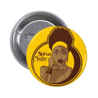 Hermana de Nubian Pin Redondo De 2 Pulgadas