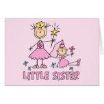 Hermana de princesa Duo del palillo pequeña Felicitacion
