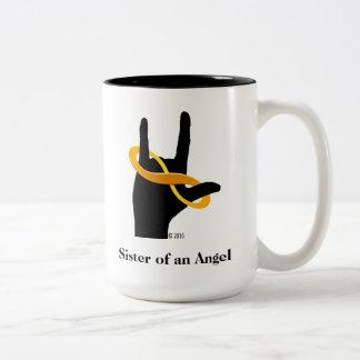 Hermana de una taza de café del ángel 15oz