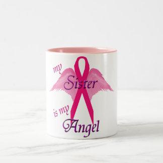 Hermana del ángel taza de dos tonos