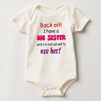 hermana del backoff body para bebé