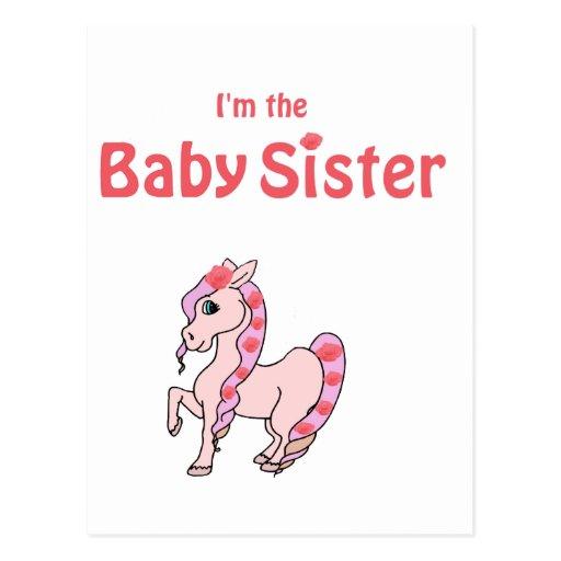 hermana del bebé del potro postal