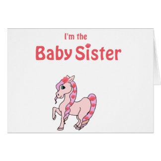 hermana del bebé del potro felicitación