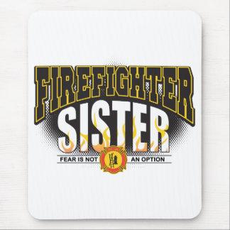 Hermana del bombero alfombrilla de ratón