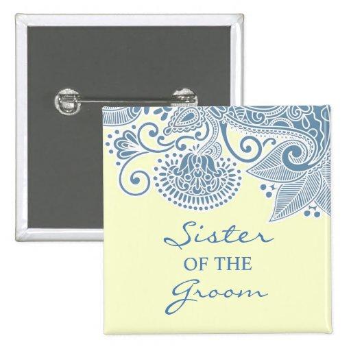 Hermana del botón del boda del Victorian del novio