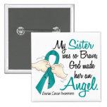Hermana del cáncer ovárico del ángel 2 pin cuadrado