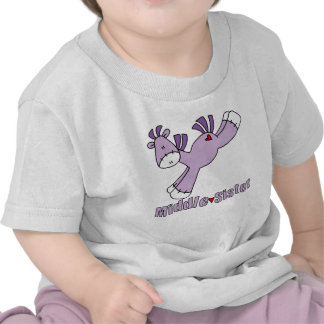 Hermana del centro del potro del calcetín camiseta