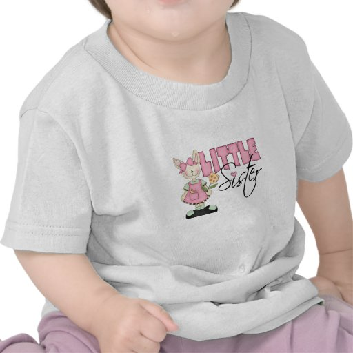 Hermana del conejito del país pequeña (rosa) camisetas