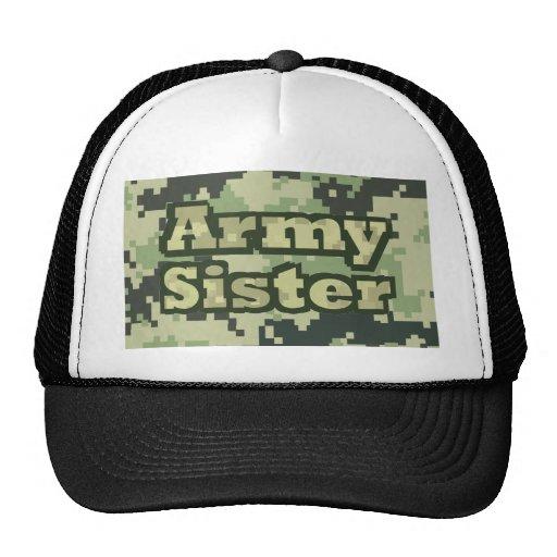 Hermana del ejército gorros