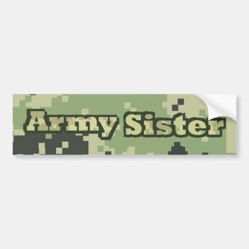 Hermana del ejército pegatina para auto