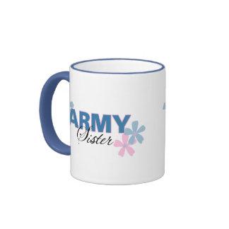Hermana del ejército taza de dos colores