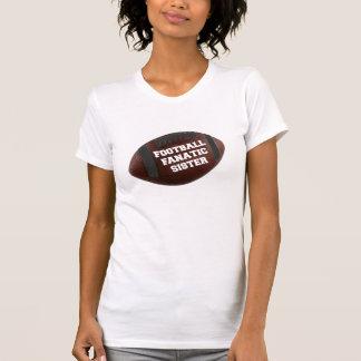 Hermana del fanático del fútbol camisetas