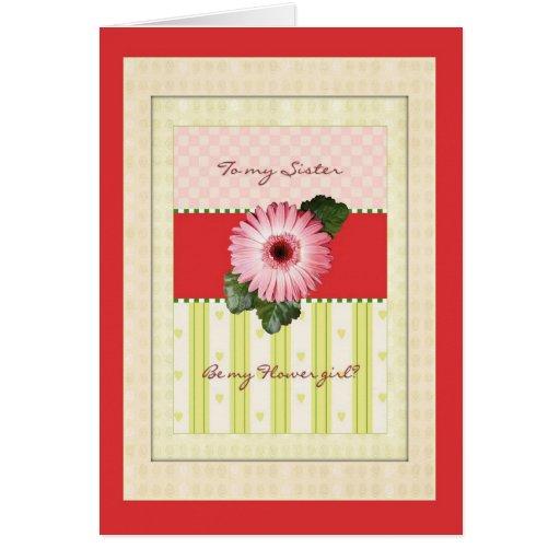 Hermana del florista que casa la invitación nupcia tarjeta