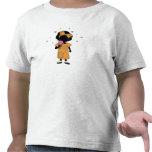 Hermana del helado con la camiseta de los corazone