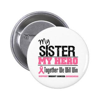 Hermana del héroe del cáncer de pecho pin