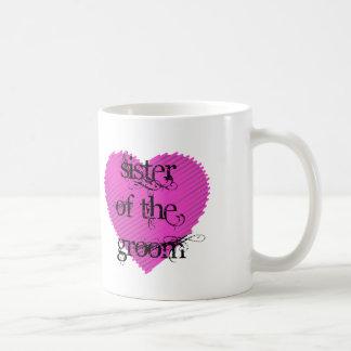 Hermana del novio taza de café