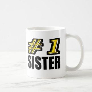 Hermana del número uno tazas de café
