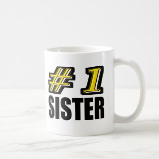 Hermana del número uno taza de café