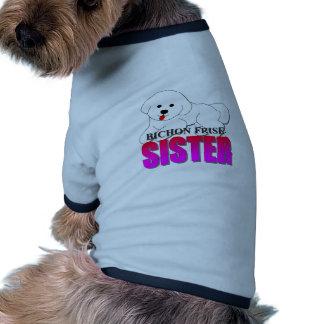 Hermana del perro de Bichon Frise Camisetas De Perrito
