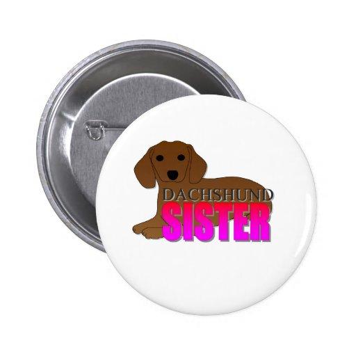 Hermana del perro del Dachshund Pin