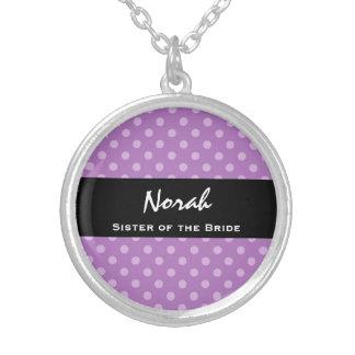 HERMANA del regalo de boda púrpura del lunar de la Joyeria Personalizada