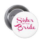 Hermana del rosa de la novia en blanco pin